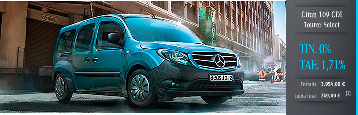 Oferta Mercedes Citan 109 CDI Tourer Select TIN 0%